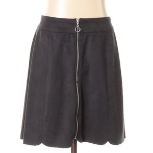 WAYF Nordstrom | black scalloped mini skirt